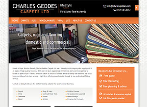 Charles Geddes Carpets Screenshot